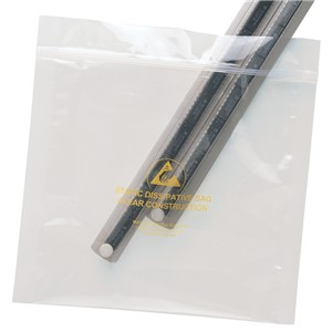 13881-BAG, STATFREE, CLEAR, ZIPPER, 127MM x 203MM, 100 EA/PACK