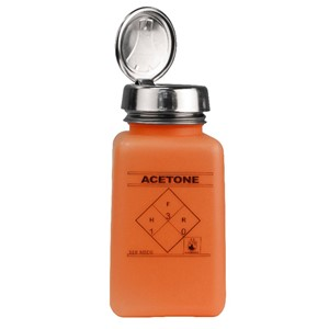35271-ONE-TOUCH, DURASTATIC, ORANGE, HDPE, 180 ML, ACETONE PRINTED