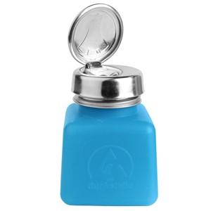 35282-静電気拡散性ボトル、ワンタッチ、青、HDPE、120cc