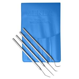35630-プローブ、セット、ステンレス、4種類 ケース付き(青)