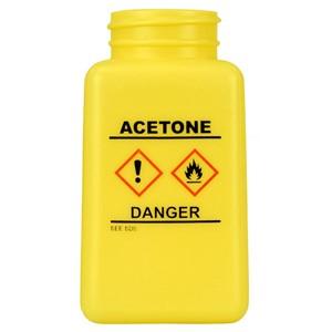 35733-ボトルのみ、黄色、GHS表示、「ACETON」と印刷、180cc