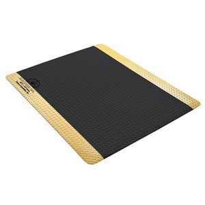 40980-マット、STATFREE 、滑り止めパターン、導通性、黒、ビニール、11.4 mm x 914 mm x1.22 m