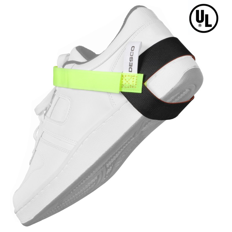 07599-FOOT GROUNDER, HEEL, LIME GREEN STRAP, 1MEG, UL LISTED