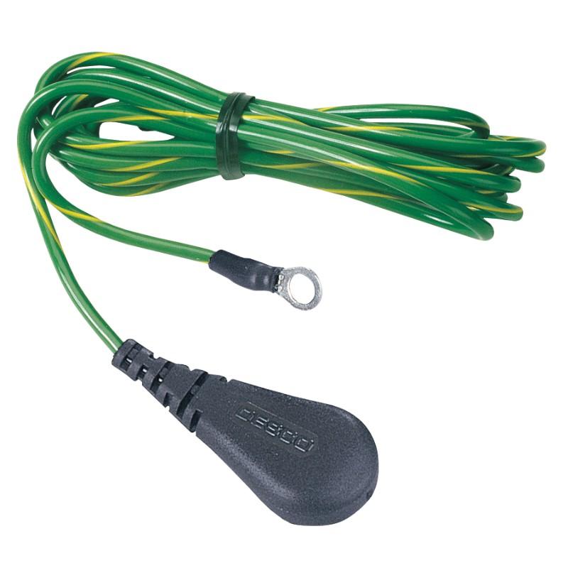 09817-コード、接地、フロアーマット 10mm端子、抵抗なし、3.05 m