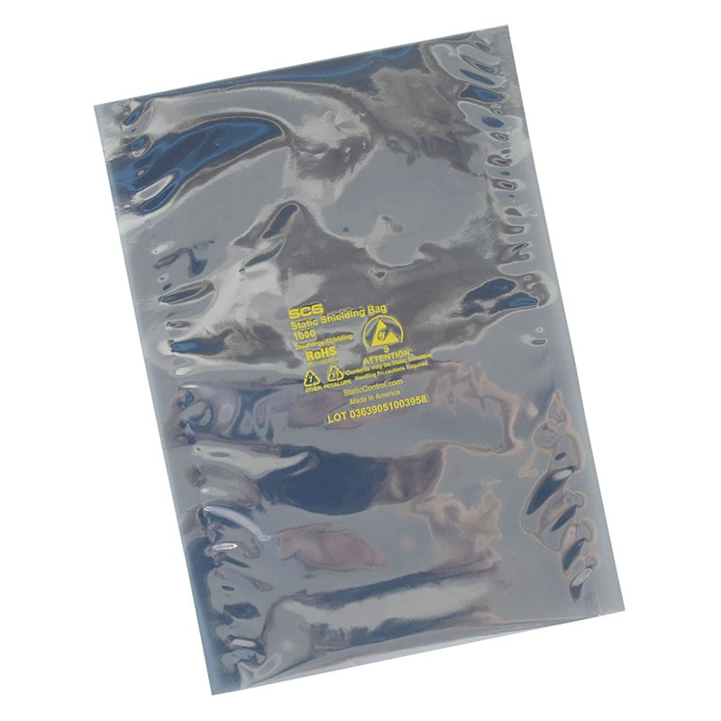 10058-STATIC SHIELD BAG, 1000 SERIES 5INx8IN, 100 EA (125x203MM)
