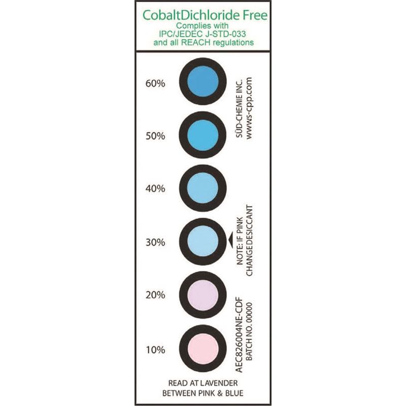 13861-HIC CARD 10% 20% 30% 40% 50% 60%, CO DICHLORIDE FREE 200 EA