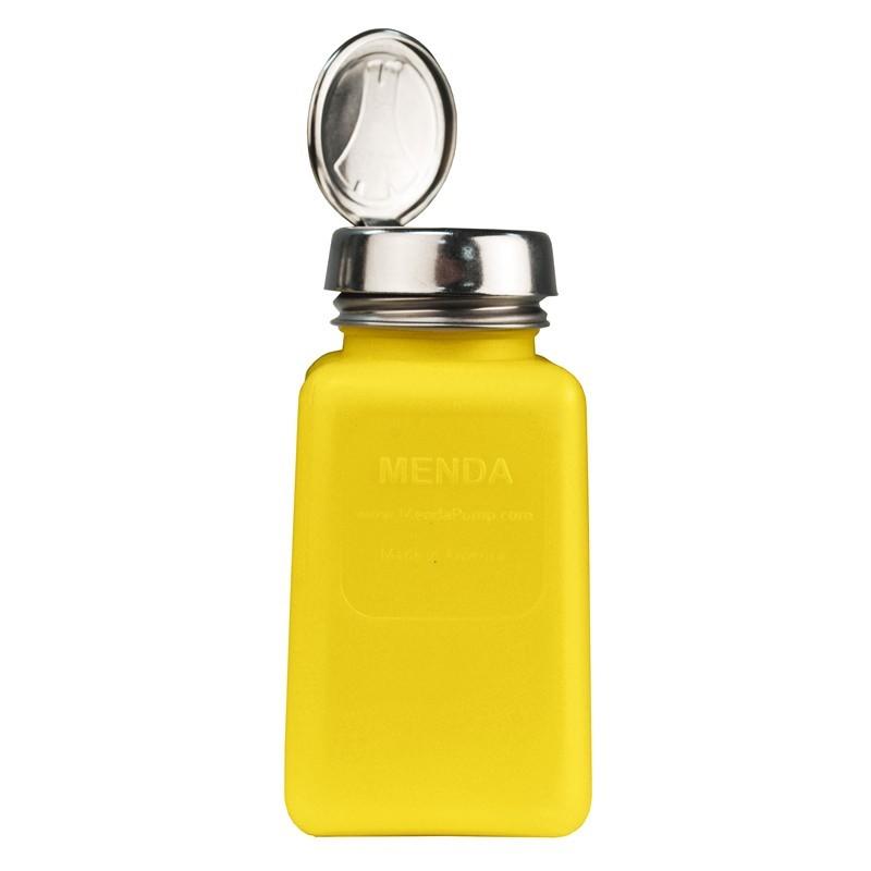 35276-静電気拡散性ボトル、黄色、ワンタッチ、HDPE、180cc