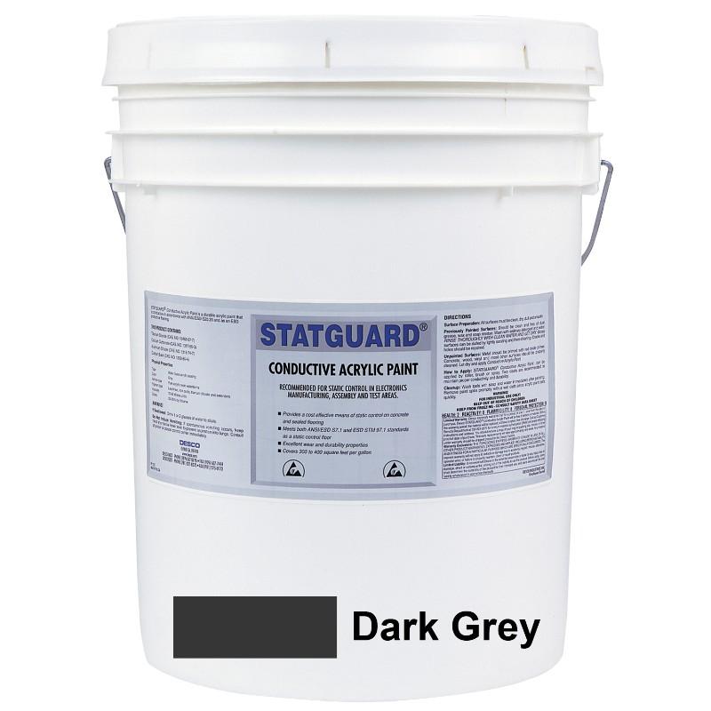 46041-PAINT, STATGUARD, CONDUCTIVE LATEX, DARK GREY, 5 GAL (19L)