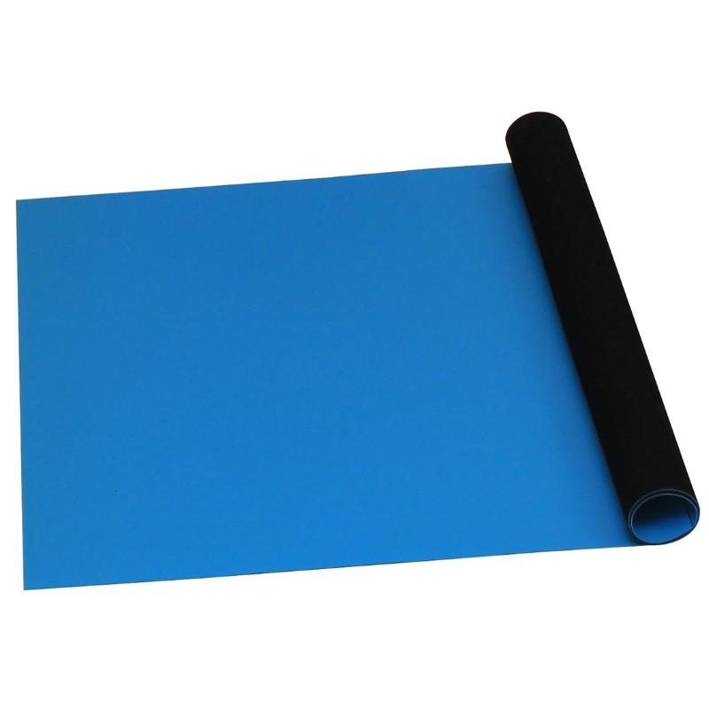 66403-ROLL, STATFREE T2 PLUS RUBBER, DISSIPATIVE,  BLUE, 1.5 MM x 1.2 M x 12.2 M