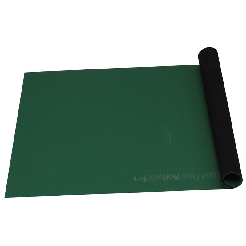 66120-ROLL, STATFREE T2, RUBBER, GREEN,1.5 MM x 600 MM x 7.32 M