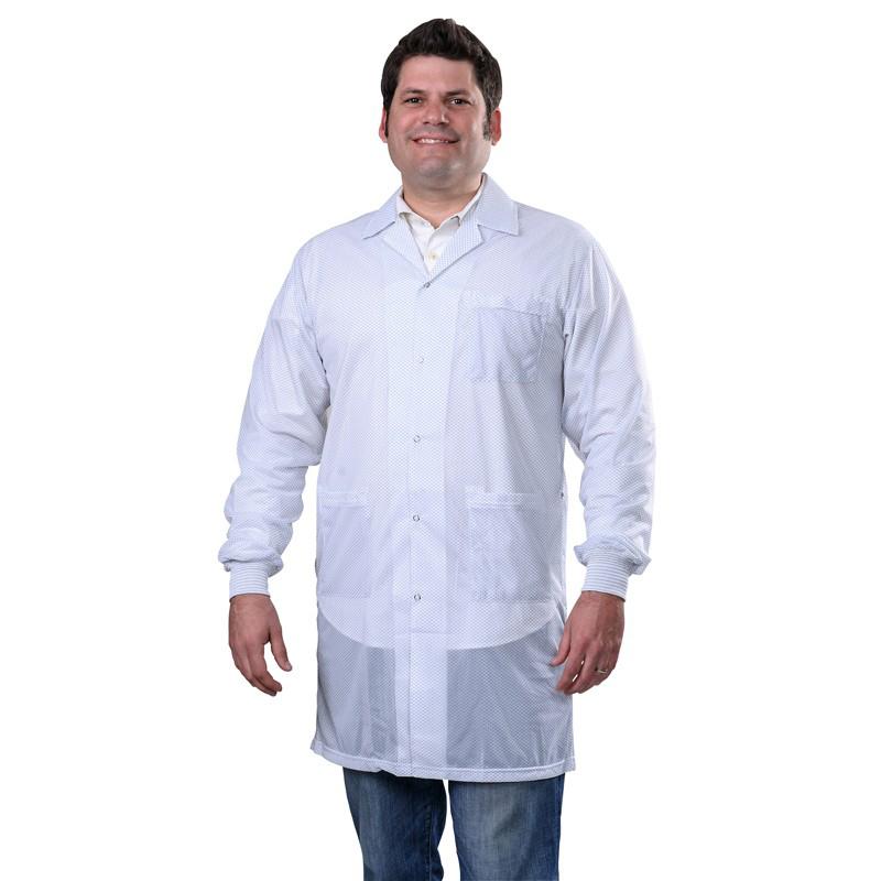 73633-スモック、STATSHIELD、実験室コート、ニット袖口、白、L