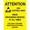 POSTER, AREA WARNING, 432MM x 559MM, 5 PK