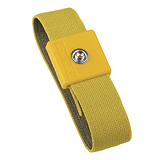 WRISTBAND, ELASTIC ADJUSTABLE, ANTI-ALLERGENIC, 4MM YELLOW